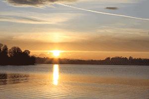 Sonnenuntergang in frauenwörth