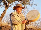 Werner Gertz mit Trommel - Schamanismus -